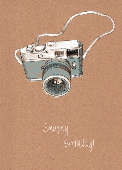 Camera Birthday Card Handmade Camera Birthday Cards – Photographer Birthday Card