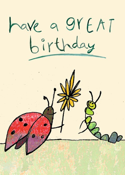 Insect Birthday Card Handmade Insect Birthday Cards – Ladybug Birthday Cards